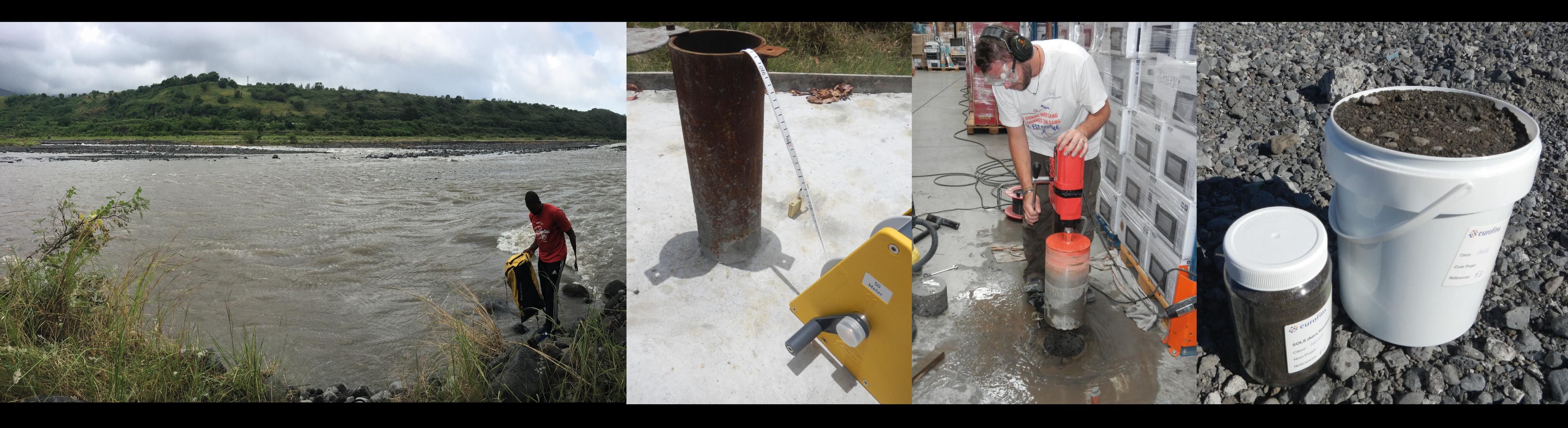 Etudes environnementales, diagnostic pollution, prélèvements eau, sol et sédiments